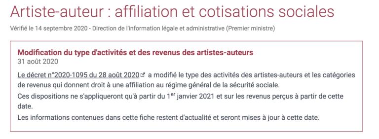 Artistes- Auteurs affiliation et cotisations sociales